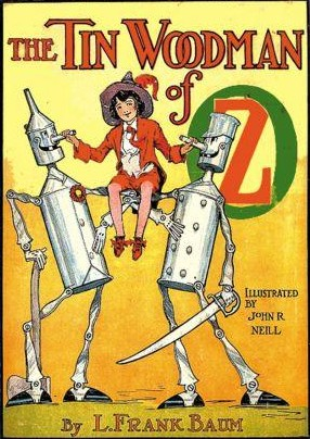Book cover - The Tin Woodman of Oz by L. Frank Baum.